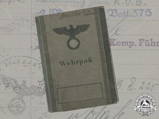 Germany, Heer. A Wehrpaß, Health Journal, and Grouping of Documents Belonging to Fahnenjunker-Feldwebel der Reserve Ernst Brüllau