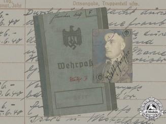 Germany, Heer. A Wehrpaß and Wehrmacht-Führerschein to Gefreiter Adolf Fleischer