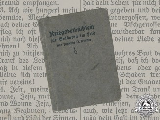 Germany, Imperial. Prayer Book for Soldiers in the Field, written by Paul von Wurster, 1914