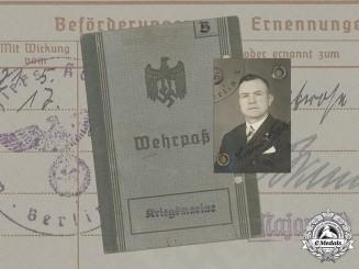 Germany, Kriegsmarine. A Wehrpaß to Torpedo-Obermatrose Bruno Bahr