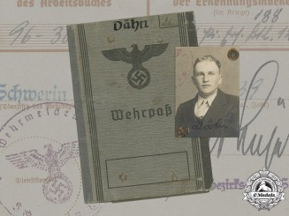 Germany, Heer. A Wehrpaß to Obergefreiter Rudolf Dähn (KIA)