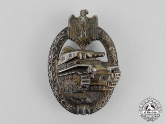 Germany. A Bronze Grade Tank Badge by Rudolf Karneth