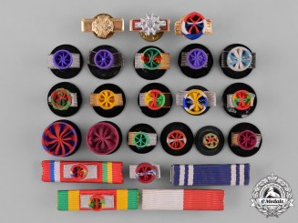 United States. Twenty Rosettes and Four Ribbon Bars
