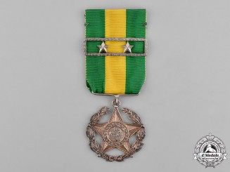 Brazil, Republic. A Military Long Service Medal, II Class for Twenty Years' Service