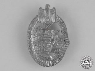 Germany, Heer. A Second War Panzer Assault Badge, Silver Grade, by Rudolf Karneth & Söhne