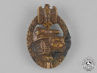 Germany, Heer. A Panzer Assault Badge, Bronze Grade, by Schauerte & Höhfeld