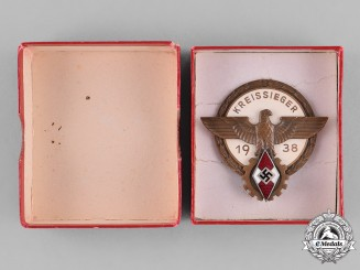 Germany, HJ. A 1938 HJ National Trade Competition Victor's Badge
