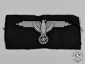 Germany, SS. A Waffen-SS NCO/EM's Flat Wire Sleeve Eagle