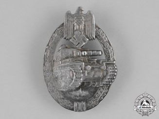 Germany, Heer. A Tank Assault Badge, Silver Grade, by B.H.Mayer
