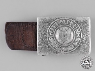 Germany, Heer. An Army Belt Buckle by Gebrüder Kugel & Fink