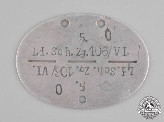 Germany, Heer. A Second War Period Heer (Army) Identification Tag