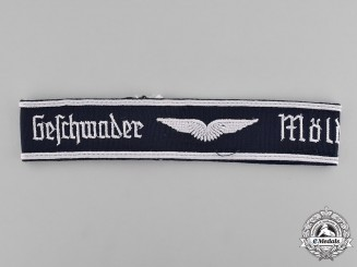 Germany, Luftwaffe. A Luftwaffe Mölders Squadron Cuff Title, 1957 Version