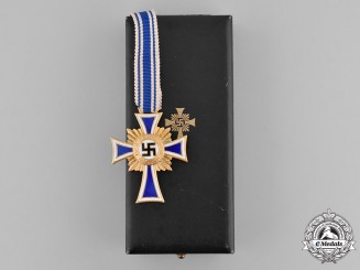 Germany, Third Reich. A Cased Honour Cross of the German Mother, Gold Grade
