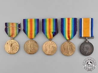 United Kingdom. Five First War Medals to Members of the Royal Air Force
