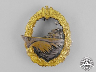 Germany. A Kriegsmarine Destroyer War Badge by Schwerin of Berlin
