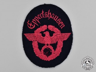 Germany, Ordnungspolizei. An Eppertshausen Fire Police Sleeve Insignia