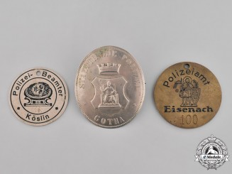 Germany, Weimar. A Grouping of Three Weimar Period German Police Badges