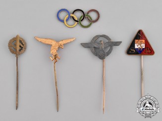 Germany, Third Reich. A Lot of Second War Stick Pins