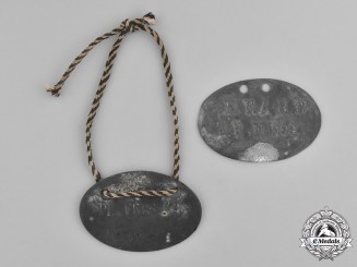 Europe. A Pair of First War German POW Identification Discs