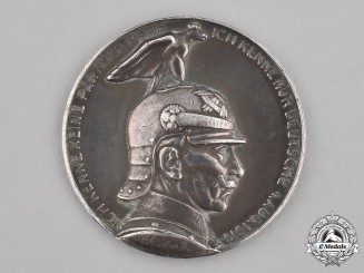 Germany, Imperial. A Kaiser Wilhelm II Silver Party Political Truce Medal, by A. Galambos, 1914