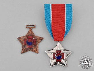 South Korea, Republic. Two Wound Medals
