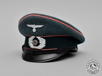 Germany, Heer. A German Army Panzer NCO's Visor Cap