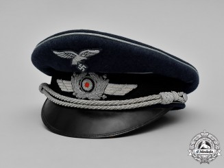 Germany, Luftwaffe. An Officer's Visor Cap, by C.E. Has Prima