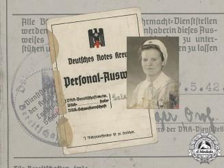 Germany, DRK. A German Second War Red Cross Identity Card Belonging to Gertrud Ciszewski