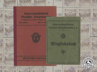 Germany, Third Reich. A Pair of Membership Books Belonging to Herman Panschar