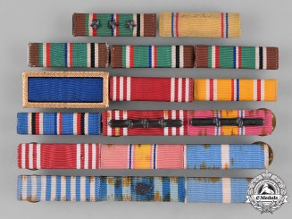 United States. A Lot of Twelve Second War and Korean War Era Ribbon Bars
