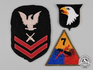 United States. A Lot of Three Embroidered Patches