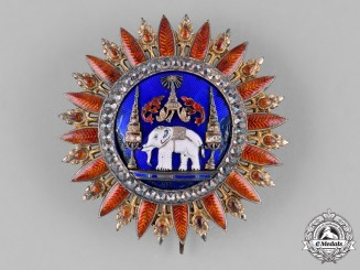 Thailand, Kingdom of Siam. A Most Exalted Order of the White Elephant, 1st Class Grand Cross Star, c.1880