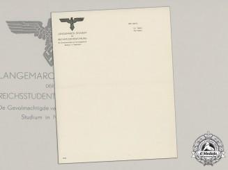 Germany, NSDAP. A Set of  Langemarck-Studium (Langemarck Study) Den Haag (The Hague) Stationary