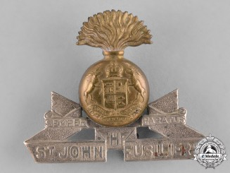 Canada. A Saint John Fusiliers Cap Badge, c.1940