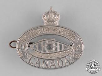 Canada. A Essex Regiment (Tank) Cap Badge, c.1940
