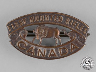 Canada. A 1st Mounted Rifle Battalion Shoulder Title, c.1915