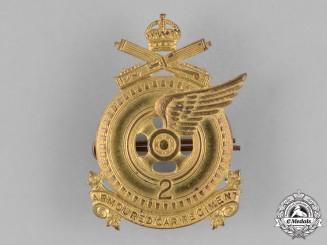 Canada. A 2nd Armoured Car Regiment Cap Badge, c.1941