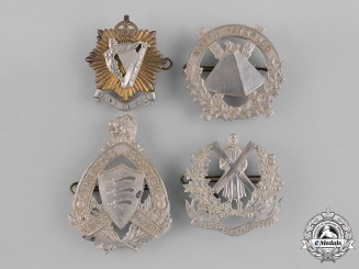 Canada. A Lot of Four Pre-First and Second War Cap Badges