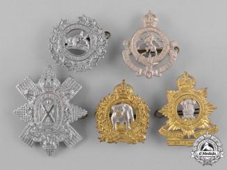 Canada. A Lot of Five Second War Cap Badges