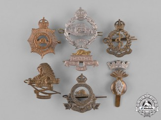 Canada. A Lot of Seven First and Second War Cap Badges