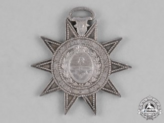 Argentina, Republic. A Buenos Aires National Guard Star for the Campaign to Paraguay, II Class, Silver Grade