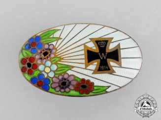 Germany, Imperial. An Iron Cross 1914 Sweetheart Brooch