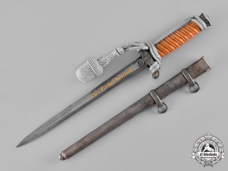 Germany, Heer. A Damascus Blade Honour Dagger, by Carl Eickhorn