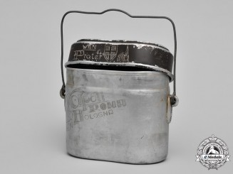 Germany, Wehrmacht. A 1941 German M31 Messkit by Aluminiumwerke Göttingen