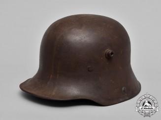 Germany, Heer. A First War German M17 Combat Helmet by F.C. Bellinger