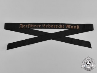Germany, Kriegsmarine. A Named Destroyer Cap Ribbon