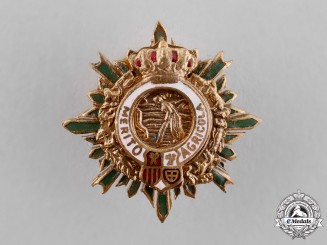Spain, Kingdom. A Miniature Order of Agricultural Merit, Grand Cross Star, c.1910