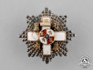 Spain, Franco's period. A Miniature Order of Military Merit, White Division, Grand Cross Star, c.1950
