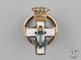 Spain, Franco's period. A Miniature Order of Naval Merit, White Distinction, I Class Cross, c.1950