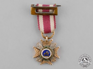 Spain, Kingdom. A Miniature Order of St. Hermenegildo, Commander by Number's Star, c.1910
